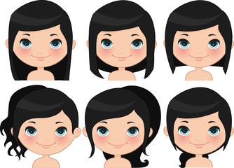 Hairstyles Set