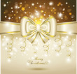 Greeting card with white bow.
