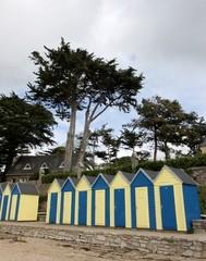 cabanes de plage, île aux moines ,golfe du morbihan