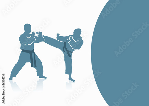 Martial arts background - vector illustration