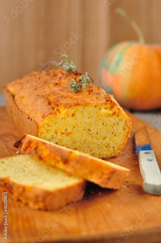 Pumpkin and Thyme Cornmeal Cake