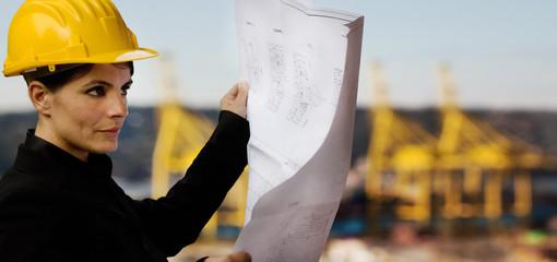 female engineer with shipyard background
