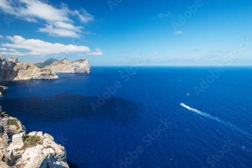 Coast near cape Formentor at  Mallorca Spain