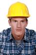 Confused looking builder