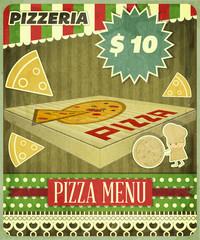 Retro Cover Menu for Pizzeria