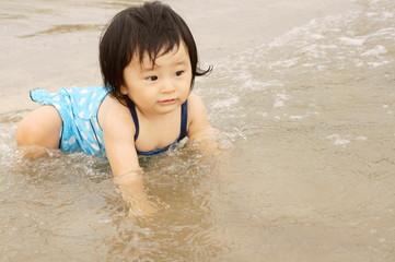 ちょっとびっくり I'm a bit surprised at the Wave of Sea!