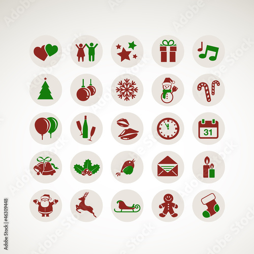 Set of icons for New Year and Christmas
