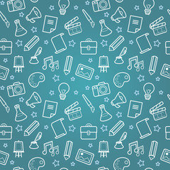 Vector creative seamless pattern