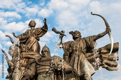 Monument to the legendary Kiev's founders: Kyi, Shchek, Horiv an