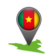 Kamerun Markierung Flagge Icon Button