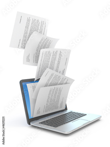 Downloading of documents.