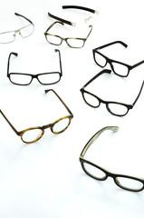 Brillen von oben