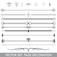 Vectorset Page Decoration Line