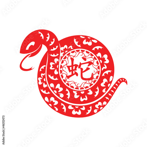 Papercut of 2013 Snake Lunar year symbol
