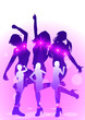 girls dancing in discolight