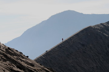 Climber on Mount Bromo