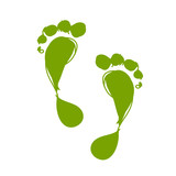 Sketch of green footprint for your design