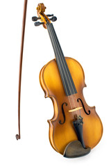Old Violin with Bow