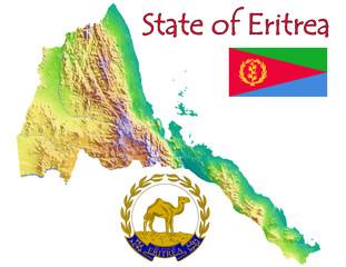 Eritrea national emblem map symbol motto