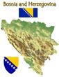 Bosnia Herzegovina national emblem map symbol motto