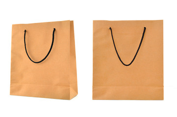 Paper bag isolated