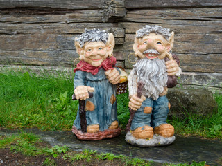 Small male and female gnomes