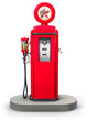 Old gas pump isolated on white