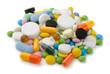 Pile of various colorful pills