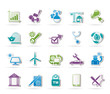 Internet and Website Portal icons - vector icon set