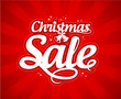 Christmas sale design template.