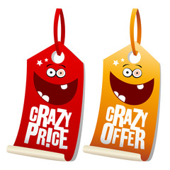 Crazy sale funny labels.
