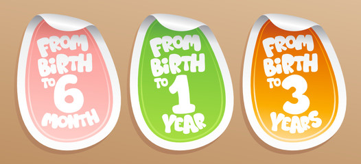 Stickers for baby goods.