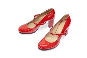 Red female shoes-15