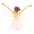 Girl child in kids butterfly ballerina costume
