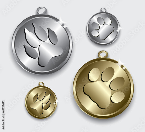 Collar medallion for cats and dogs