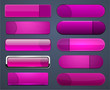 Magenta high-detailed modern web buttons.