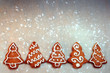 Homemade Christmas cookie trees with decoration