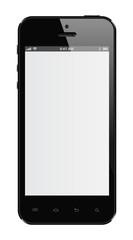 Téléphone portable noir isolé