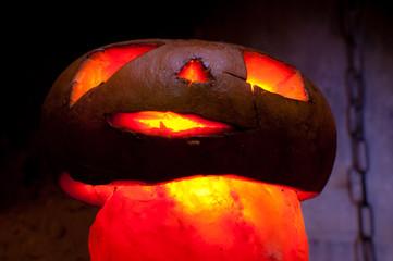 zucca cattiva di halloween