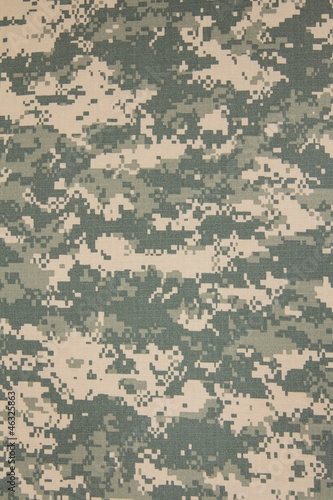 Tuinposter Stof US army acu digital camouflage fabric texture background