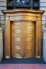 Big Brass Revolving Bank Doors