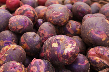 Pile of Purple Potatoes