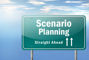 "Highway Signpost ""Scenario Planning"""