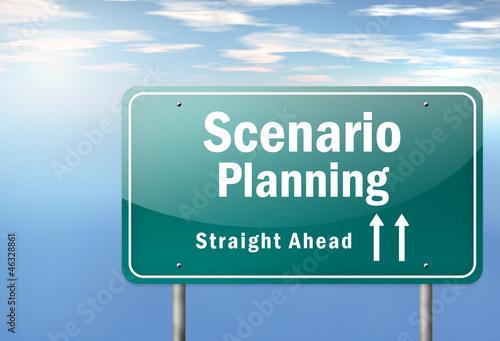 """Highway Signpost """"Scenario Planning"""""""