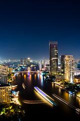 Bangkok City Night, Thailand.
