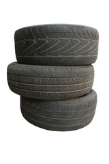 Old tire, on the white background