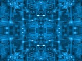 Abstract Blue Spherical Tile Circuit Background 03
