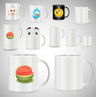 Coffee and Tea Mugs and Cups Vector Illustration