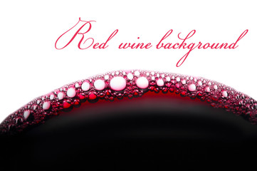 background with bubbles of red wine