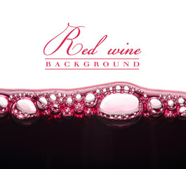 background with of young red wine